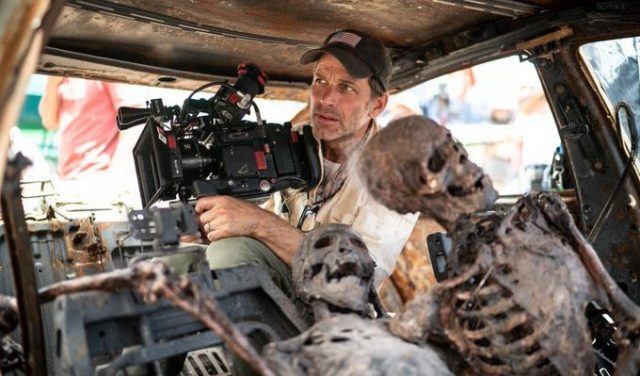 Zack Snyder on set of Army Of The Dead
